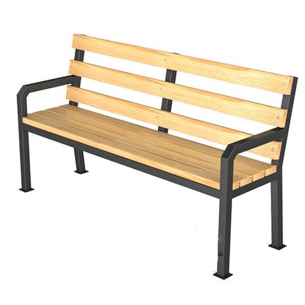 Скамейка парковая со спинкой S 05