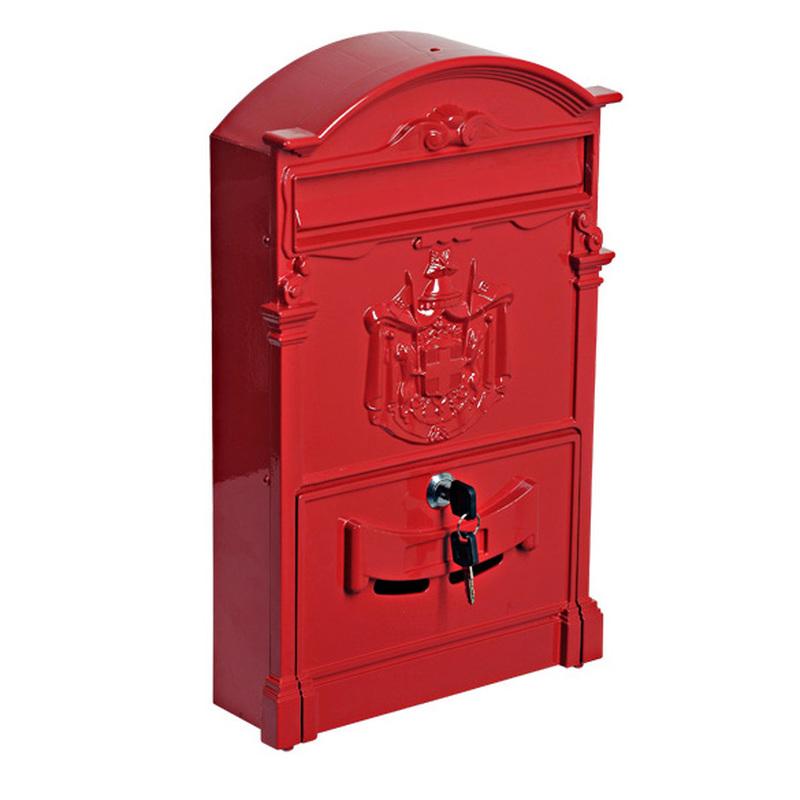 Почтовый ящик LION ANTIQUE красный