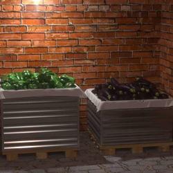 Оцинкованный ящик для овощей (600х750х750)