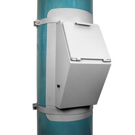 Клапан мусоропровода d400 (1 мм)