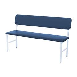 Банкетка медицинская со спинкой МД БС Синяя