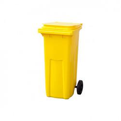Мусорный контейнер МКТ 120 желтый