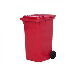 Мусорный контейнер МКТ 240 красный