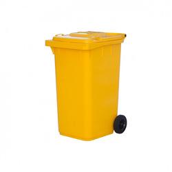 Мусорный контейнер МКТ 240 желтый