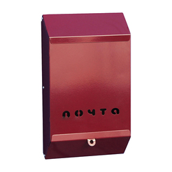 Почтовый ящик (бордовый) без замка