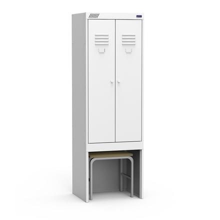 Металлический шкаф для одежды ШРК 22-600 ВСК