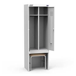 Металлический шкаф для одежды ШРК 22-800 ВСК