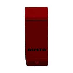 Почтовый ящик Столбик (бордовый) без замка