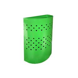 Металлическая урна для бумаг с перфорацией зеленая